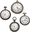 Timepieces:Pocket (pre 1900) , Four Verge Fusee Watches. ... (Total: 4 Items)