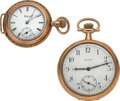 Timepieces:Pocket (post 1900), Howard 14k Gold 12 Size, Elgin 14k Gold O Size. ... (Total: 2Items)