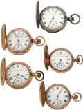 Timepieces:Pocket (pre 1900) , Five American Hunters Cases, All Runners. ... (Total: 5 Items)