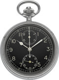 Timepieces:Pocket (post 1900), Breitling Watch Corp. Military Navigational Stop Watch. ...