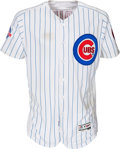 Baseball Collectibles:Uniforms, 2016 Jake Arrieta Game Worn Chicago Cubs Jersey. ...