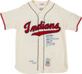 "Baseball Collectibles:Others, 2000's Bob Feller Signed Cleveland Indians ""Stat"" Jersey...."