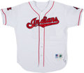 Baseball Collectibles:Uniforms, 1996 Charlie Manuel Game Worn Cleveland Indians Jersey....