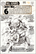 Original Comic Art:Covers, Joe Kubert Our Army At War #190 Cover Sgt. Rock Original Art, Silver Print Color Guide, and 2 Cover Press Proofs G... (Total: 4 Items)