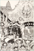 "Original Comic Art:Splash Pages, George Perez Perez: Accent On The First ""E"" Logan's RunPortfolio Illustration Original Art (Marvel, 1..."