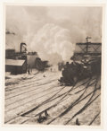 Photographs:Photogravure, Alfred Stieglitz (American, 1864-1946). In the New York CentralRail Yards, from Camera Work 20, 1903. Photogravure,...