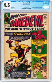 Daredevil #1 (Marvel, 1964) CGC VG+ 4.5 Cream to off-white pages