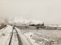 Photographs, Jack Delano (American, 1914-1997). Railroad passing train, 1943. Gelatin silver. 9-3/4 x 13-3/4 inches (24.8 x 34.9 cm)...