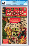 Silver Age (1956-1969):Superhero, The Avengers #1 (Marvel, 1963) CGC GD+ 2.5 Off-white pages....