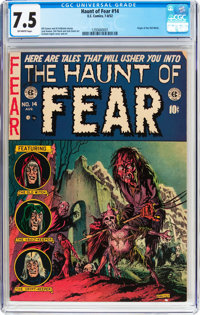 Haunt of Fear #14 (EC, 1952) CGC VF- 7.5 Off-white pages