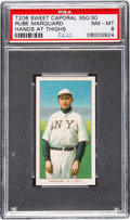 Baseball Cards:Singles (Pre-1930), 1909-11 T206 Sweet Caporal Rube Marquard (Hands at Thighs) PSANM-MT 8. ...