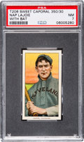Baseball Cards:Singles (Pre-1930), 1909-11 T206 Sweet Caporal 350/30 Nap Lajoie (With Bat) PSA NM 7....