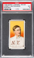 Baseball Cards:Singles (Pre-1930), 1909-11 T206 Sweet Caporal Christy Mathewson (Portrait) PSA EX 5....