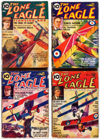 The Lone Eagle Group of 17 (Better Publications, 1936-40) Condition: Average VG.... (Total: 17 Items)