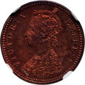 India:British India, India: British India. Victoria Proof 1/12 Anna 1891-(C) PR64 Red and Brown NGC,...