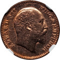 India:British India, India: British India. Edward VII Proof 1/12 Anna 1904-(C) PR64 Red NGC,...