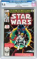 Modern Age (1980-Present):Science Fiction, Marvel Movie Showcase Featuring Star Wars #1 (Marvel, 1982) CGC NM+9.6 White pages....