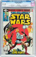 Bronze Age (1970-1979):Science Fiction, Star Wars Annual #1 (Marvel, 1979) CGC NM/MT 9.8 White pages....