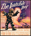 "Movie Posters:Science Fiction, The Invisible Boy (MGM, 1957). Autographed Trimmed Window Card (13"" X 15.25"") with COA. Science Fiction.. ..."