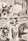 Original Comic Art:Panel Pages, John Buscema and Frank Giacoia Sub-Mariner #1 Page 17 TheThing Original Art (Marvel, 1968)....