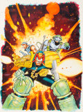Original Comic Art:Covers, Henry Flint 2000 AD Sci-Fi Special #17 Cover Judge DreddOriginal Art (Fleetway, 1994)....