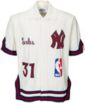 Basketball Collectibles:Uniforms, 1981-82 DeWayne Scales Game Worn New York Knicks Warmup Jacket....