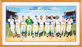 Baseball Collectibles:Others, 1988 500 Home Run Club Ron Lewis Signed Lithograph Display. ...