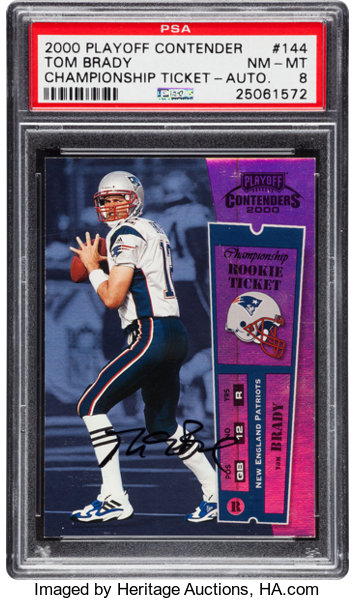 2000 Playoff Contenders Championship Rookie Ticket Autograph