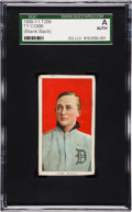 Baseball Cards:Singles (Pre-1930), 1909-11 T206 Blank Back Ty Cobb (Red Portrait) SGC Authentic. ...