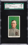 Baseball Cards:Singles (Pre-1930), 1909-11 T206 Sweet Caporal Ty Cobb (Green Portrait) SGC 55 VG/EX+4.5....