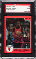 Basketball Cards:Singles (1980-Now), Signed 1986 Star Co. Michael Jordan #1 SGC Authentic....