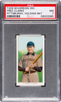 Baseball Cards:Singles (Pre-1930), 1909-11 T206 Sovereign Fred Clarke (Holding Bat) PSA NM 7. ...