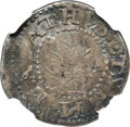 1652 6PENCE Oak Tree Sixpence, IN on Obverse AU50 NGC. CAC. Noe-20, W-400, Salmon 2-B, R.6....(PCGS# 45360)
