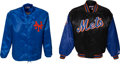 Baseball Collectibles:Others, 1980's-2000's New York Mets Jackets Lot of 2 from The Gary CarterCollection....