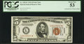 Small Size:World War II Emergency Notes, Fr. 2301* $5 1934 Hawaii Federal Reserve Note. PCGS About New 53.....