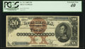 Large Size:Silver Certificates, Fr. 311 $20 1880 Silver Certificate PCGS Extremely Fine 40.. ...