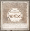 Political:3D & Other Display (pre-1896), Declaration of Independence: 1859 Wall Plaque....