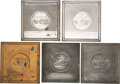 Antiques:Decorative Americana, Declaration of Independence: Five Electrotype Plaques.... (Total: 5 Items)