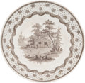 """Political:3D & Other Display (pre-1896), William Henry Harrison: """"Columbian Star"""" Saucer...."""