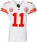 Football Collectibles:Uniforms, 2016 Alex Smith Game Worn, Unwashed Kansas City Chiefs Jersey - Worn During 1/16 Divisional Playoffs Game vs. Patriots....