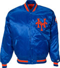 Baseball Collectibles:Uniforms, 1990's Gary Carter Game Worn New York Mets Jacket from The Gary Carter Collection....