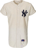 Baseball Collectibles:Uniforms, 1967 Dooley Womack Game Worn New York Yankees Jersey....