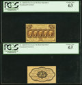 Fractional Currency:First Issue, Fr. 1282SP 25¢ First Issue Narrow Margin Pair PCGS Choice New 63.. ... (Total: 2 notes)