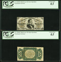 Fractional Currency:Third Issue, Fr. 1294SP 25¢ Third Issue Narrow Margin Pair PCGS Choice New 63.. ... (Total: 2 notes)
