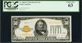 Small Size:Gold Certificates, Fr. 2404* $50 1928 Gold Certificate. PCGS Choice New 63.. ...