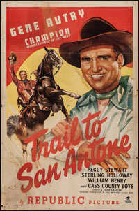 """Trail to San Antone & Others Lot (Republic, 1947). One Sheets (2) (27"""" X 41"""") & Trimmed One Sh..."""