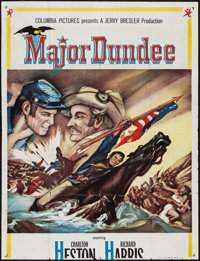 """Major Dundee & Other Lot (Columbia, 1965). Partial Three Sheet (41"""" X 53.5"""") & Partial British Three S..."""