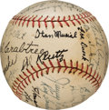 Baseball Collectibles:Balls, 1941 St. Louis Cardinals Team Signed Baseball with Rookie Stan Musial....