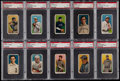 Baseball Cards:Lots, 1909-11 T206 Piedmont/Sweet Caporal PSA Graded Collection (10). ...