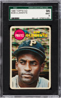 Baseball Cards:Singles (1960-1969), 1968 Topps Test 3-D Roberto Clemente SGC 96 Mint 9 - Pop Two, NoneHigher....